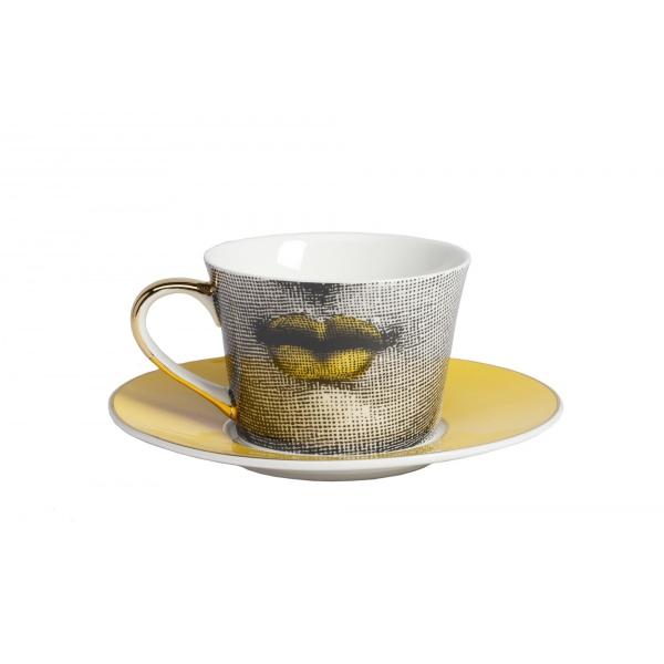 Чайный сервиз Piero Fornasetti Yellow-158