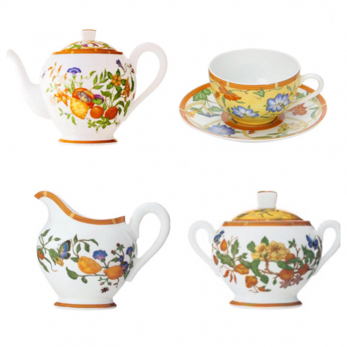 Чайный сервиз Siesto от Hermes 15 предметов-0