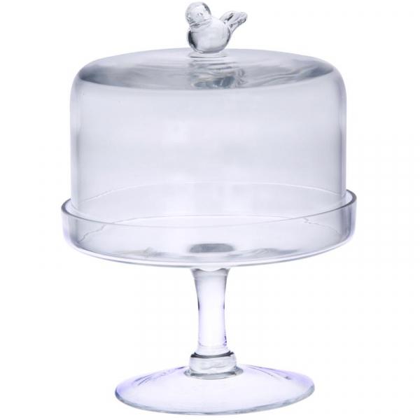 Тортовница Glass Bird-1095
