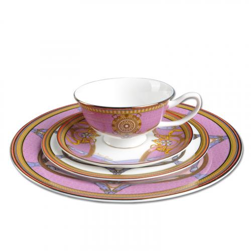 Обеденный комплект на 1 персону Sirena Pink-0