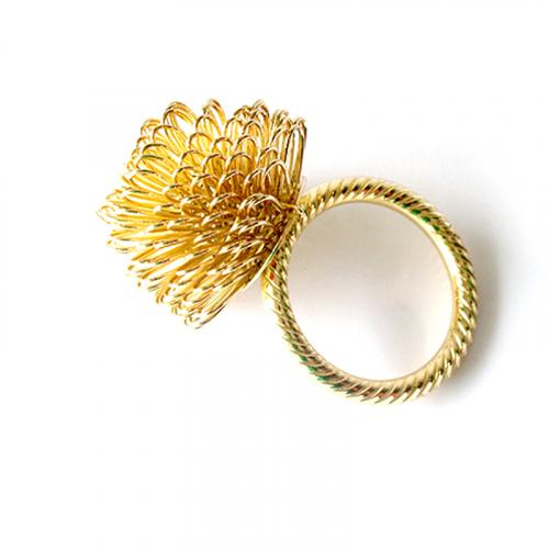 Кольцо для салфеток Gold Flower-0