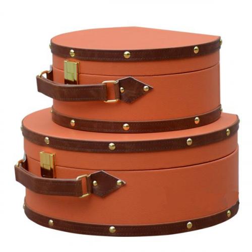 Коробка для хранения Hermes Round Orange-0
