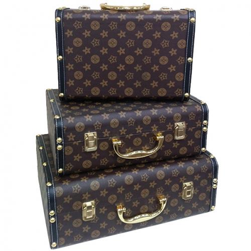 Набор из трех чемоданов LV Vintage Collection-0