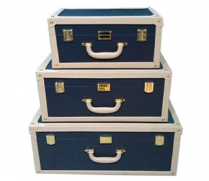 Чемодан для хранения Vintage Collection Navy Blue-0