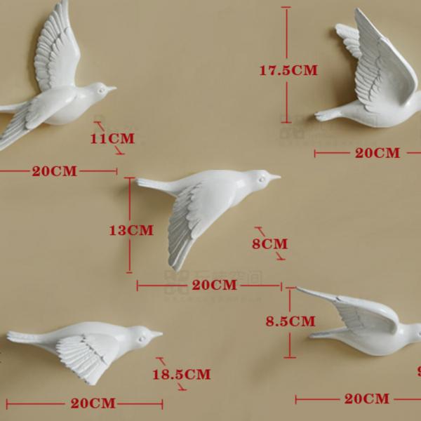 Настенный декор Birdy White-11661