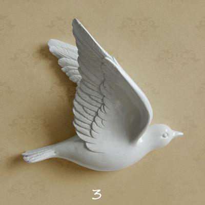 Настенный декор Birdy White-7490