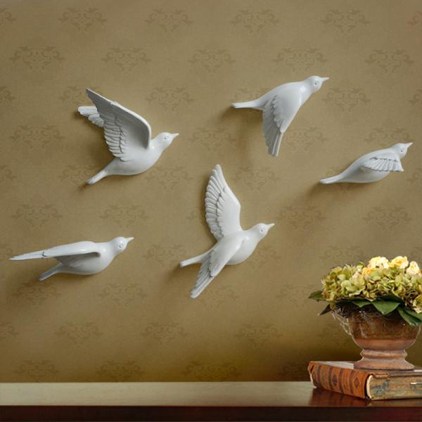 Настенный декор Birdy White-0
