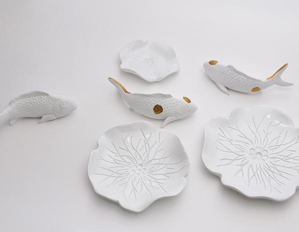 Настенный декор Fish and Water Lily-8559