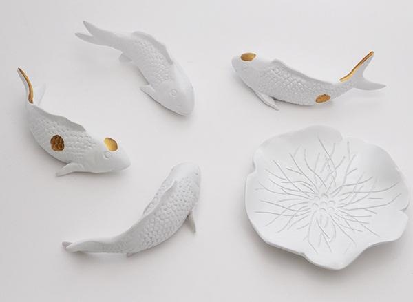Настенный декор Fish and Water Lily-8561