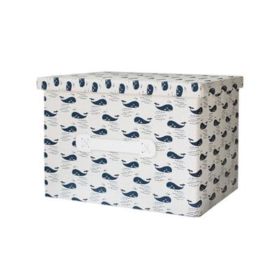 Корзина для игрушек с крышкой Whale-0