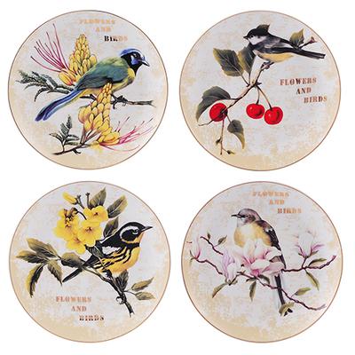 Набор из 4 тарелок Forest Bird-0