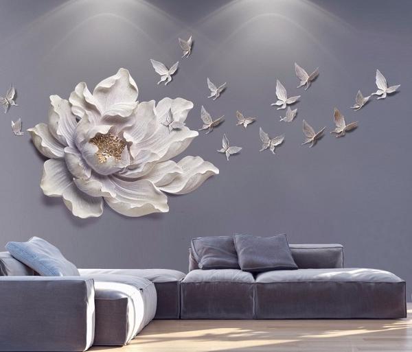 Настенный декор Flower and Butterfly-9892