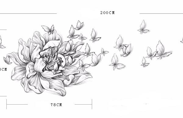 Настенный декор Flower and Butterfly-9893