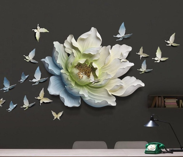Настенный декор Flower and Butterfly-9887
