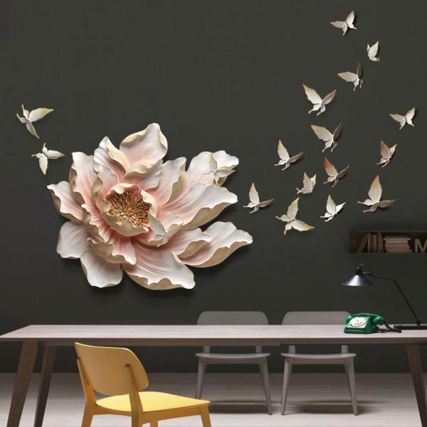 Настенный декор Flower and Butterfly-9886