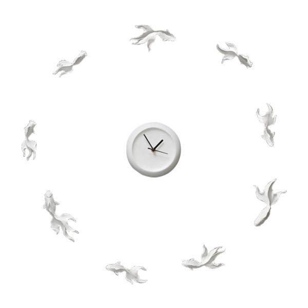 Часы Fish clock-0