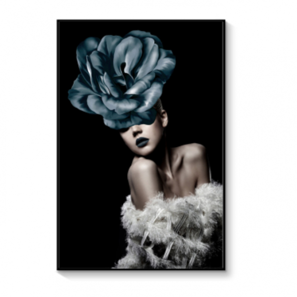 Картина в раме Blue Rose- girl-0