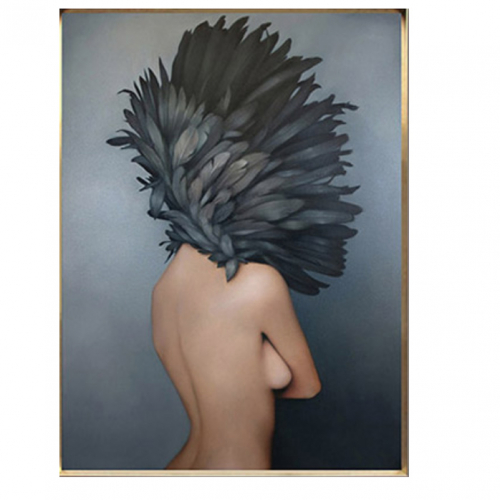 Картина в раме Bird-girl 2-0