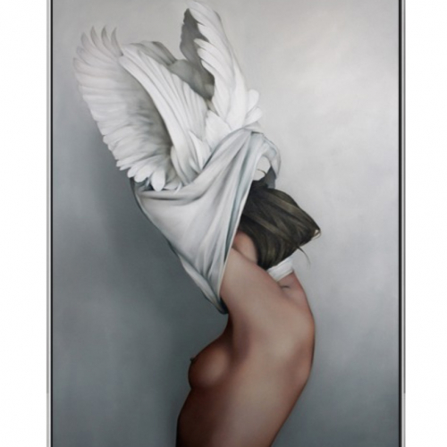 Картина в раме Bird-girl 3-0