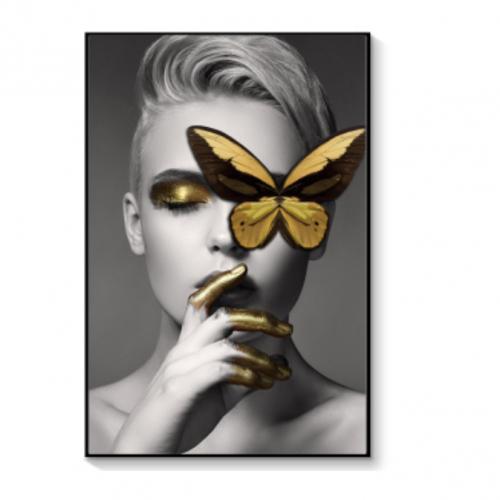 Картина в раме Butterfly-girl-0